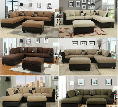 Microfiber Sectional Sofa by Sectional Sofa 3pcs Microfiber Sectionals Sofa In 6 Colors
