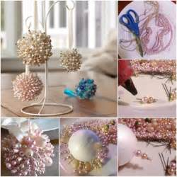 easy to make pearls christmas tree ornaments diy find fun art projects to do at home and