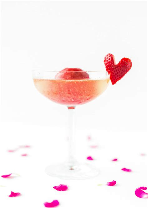 strawberry  rose sorbet champagne sugar cloth
