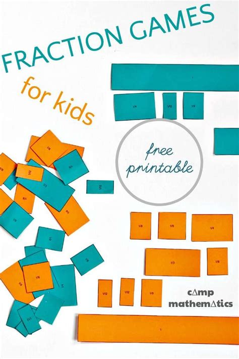 Fractions Don't Have To Be Stressful  Stem & Literacy  Math Games For Kids, Fraction Games For