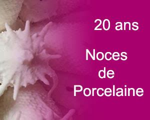 anniversaire de mariage 20 ans 20 ans de mariage noces de porcelaine