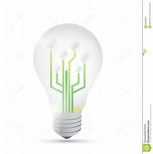 Light Bulb Diagram Illustration Design Stock Illustration