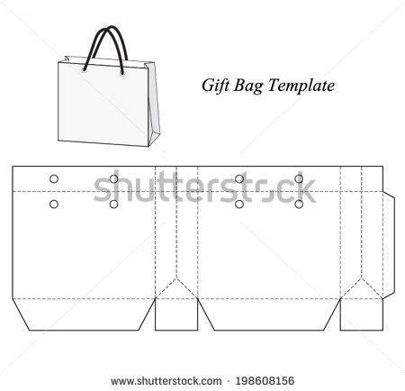 paperbag template shopping bag template vector illustration stock vector environmental design
