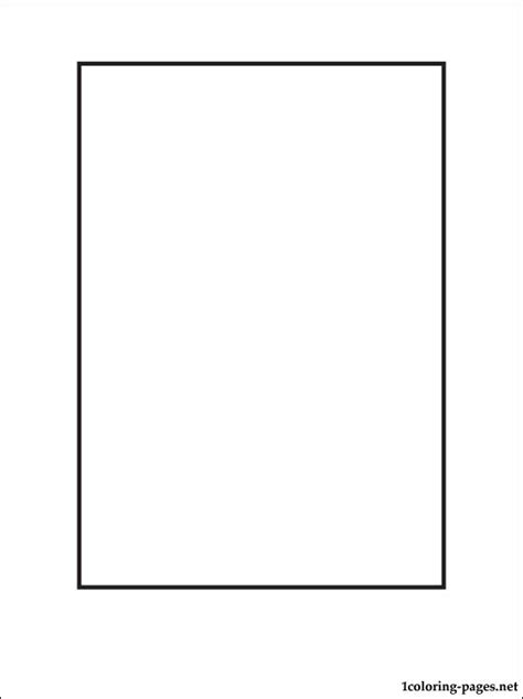 rectangle coloring page coloring pages