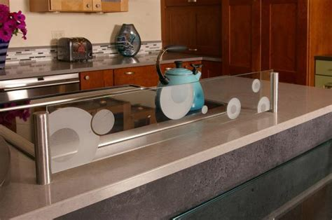 Kitchen Island Sink Splash Guard by Contemporary Kitchen In Salem Two Toned Unique By