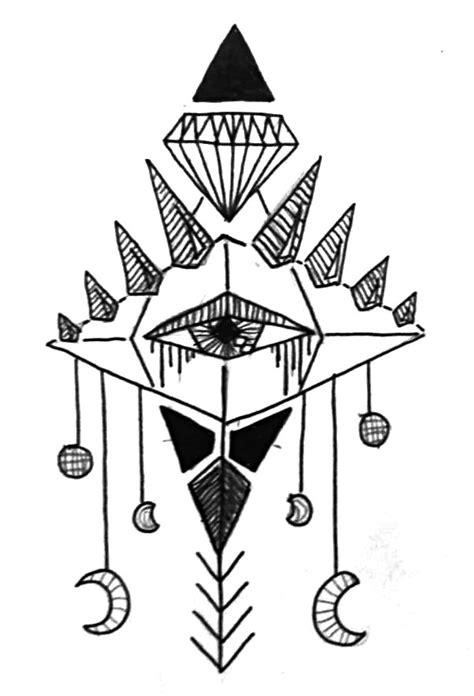 """Mystic"" sketch trinity diamond third eye moon | a・r・t | Pinterest | Mystic, Eyes and Third eye"