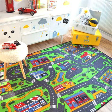tapis de jeu circuit voiture ville 145 x 200 cm