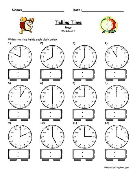 Time Worksheets  Telling Time Worksheets  Favorite Recipes  Pinterest  Telling Time