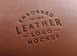leather stamping logo mockup 2 graphicburger With leather branding letters
