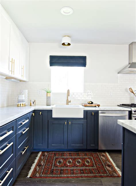 navy blue bottom kitchen cabinets a moment navy and white kitchen cabinets