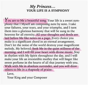 your my princess quotes quotesgram With love letters from god to his princess