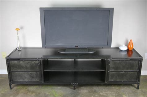 combine  industrial furniture steel media console