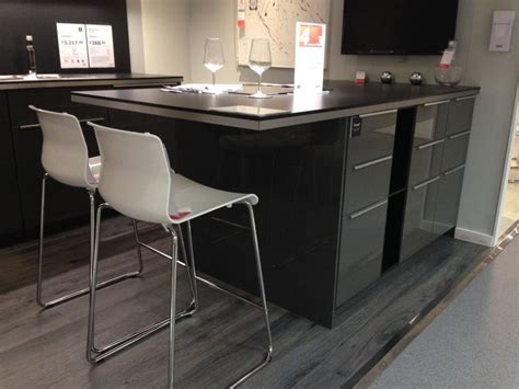 ringhult kitchen ikea grey gloss with breakfast bar had 39 t