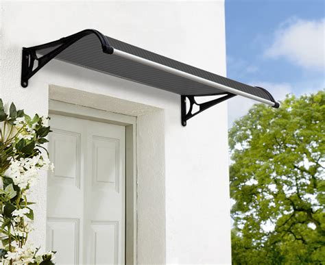 noosa outdoor window awning cover    black brackets tinted cover