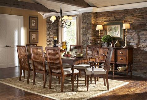 Cherry Finish Transitional Style Dining Table Woptional Items