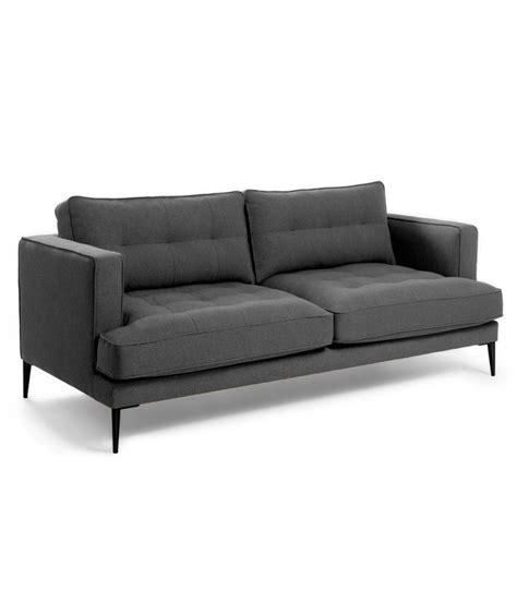 sofa 3 plazas desenfundable sof 225 3 plazas gris oscuro desenfundable con patas de metal