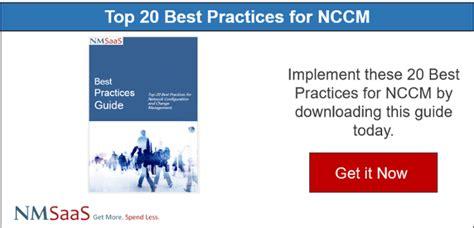 key factors  nccm  cmdb integration part  change