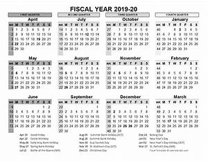Custom Yearly Planner 2019 2020 Fiscal Calendar Uk Template Free Printable