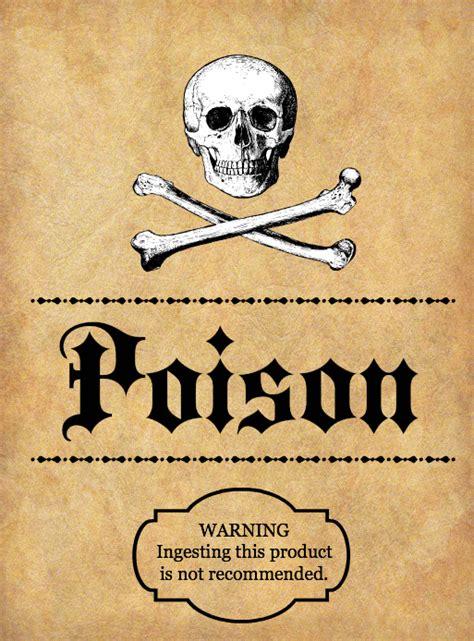 halloween spooky potion bottle labels   printables