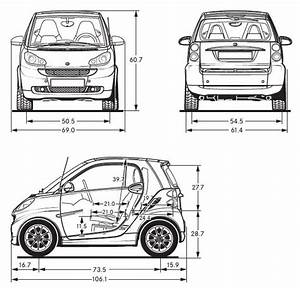 smart fortwo dimensions pictures to pin on pinterest With smart car engine size