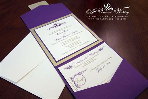 Royalty And Elegant Purple Wedding Invitations