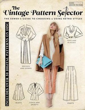 booktopia  vintage pattern selector  sewers guide  choosing   retro styles
