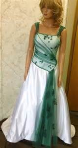 emerald wedding dress bridal gowns with color and white wedding dress with cap sleeves