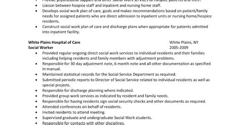 Hospital Social Work Resume Objective by Lcjs Sle Resume Hospital Social Worker