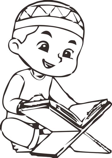 anak muslim sedang mengaji