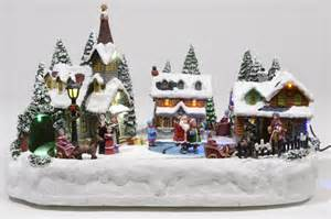 lumineo christmas village happy holidays