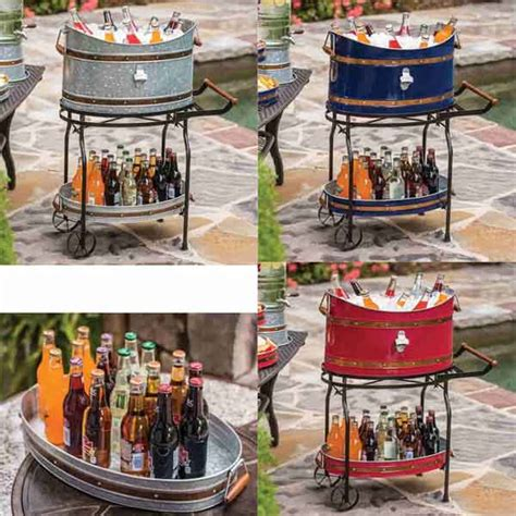 beverage tub  wheel stand  serving tray