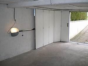 porte de garage laterale a enroulement isolation idees With porte de garage ouverture laterale motorisée