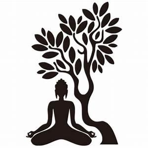 Buddha under the bodhi tree 3d wall sticker Buddhist