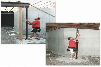 Columns Steel Adjustable Zip Manufacturing Concrete Installation
