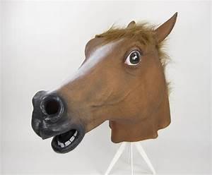 Horse Mask Soft Rubber Vinyl BROWN | eBay