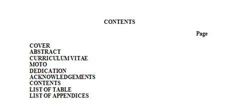 Contoh Daftar Isi Skripsi Dalam Bahasa Inggris