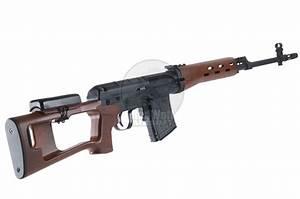 King Arms Kalashnikov Sniper Rifle (AEG version) - Wood ...