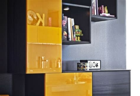 meuble cuisine jaune la cuisine décorée en jaune et noir 15 exemples