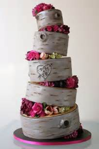 hochzeitstorte vintage birch wood rustic wedding cake 23 rustic wedding cakes to