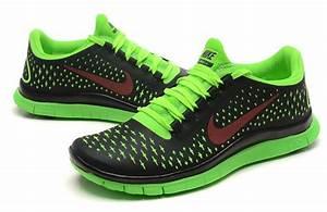 Womens Nike Free Run 3.0 V4 Running shoes - Black Green ...