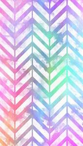 Pastel Rainbow Distressed Chevron Wallpaper - image ...