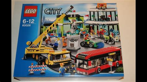 lego city   town square youtube