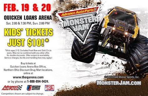 monster truck jam discount code monster jam trucks ripping it up in cleveland feb 19 20th