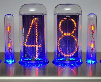 nixie röhren uhr nixie clock uhr in 12 r 246 hren nixie quot funklock quot finned polished eur 175 00