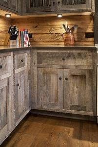 Cabinets made from barn wood westernkitchens pinterest for Barn wood kitchen cabinets