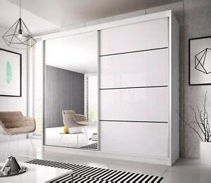modern wardrobe mu 233cm 7 ft 8 wide 2 sliding doors