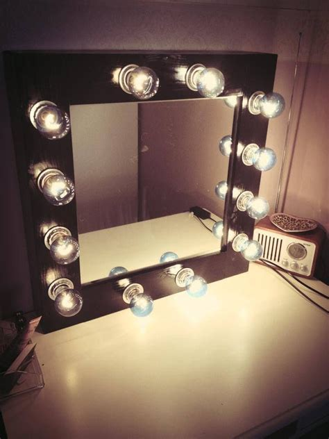 Makeup Desk With Light Bulbs by Diy Makeup Mirror With Lights Youtube