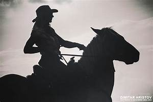 Cowgirl and horse silhouette - 54ka [photo blog]