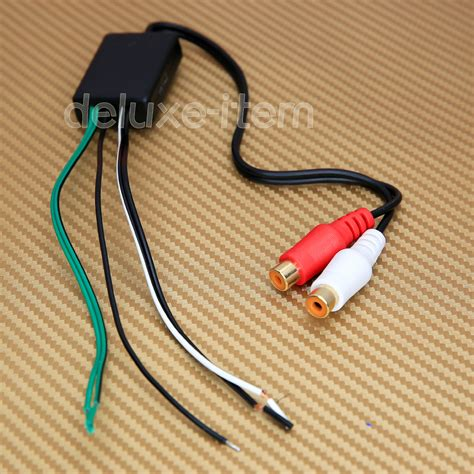 high low converter speaker to rca line level converter adaptor high low ebay