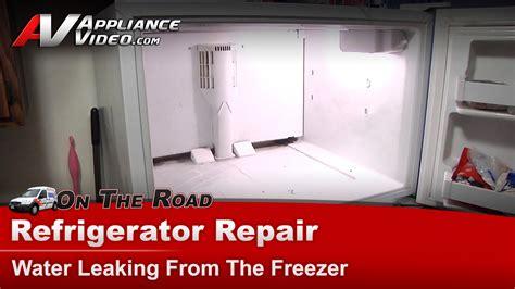 kenmore refrigerator repair water leaking